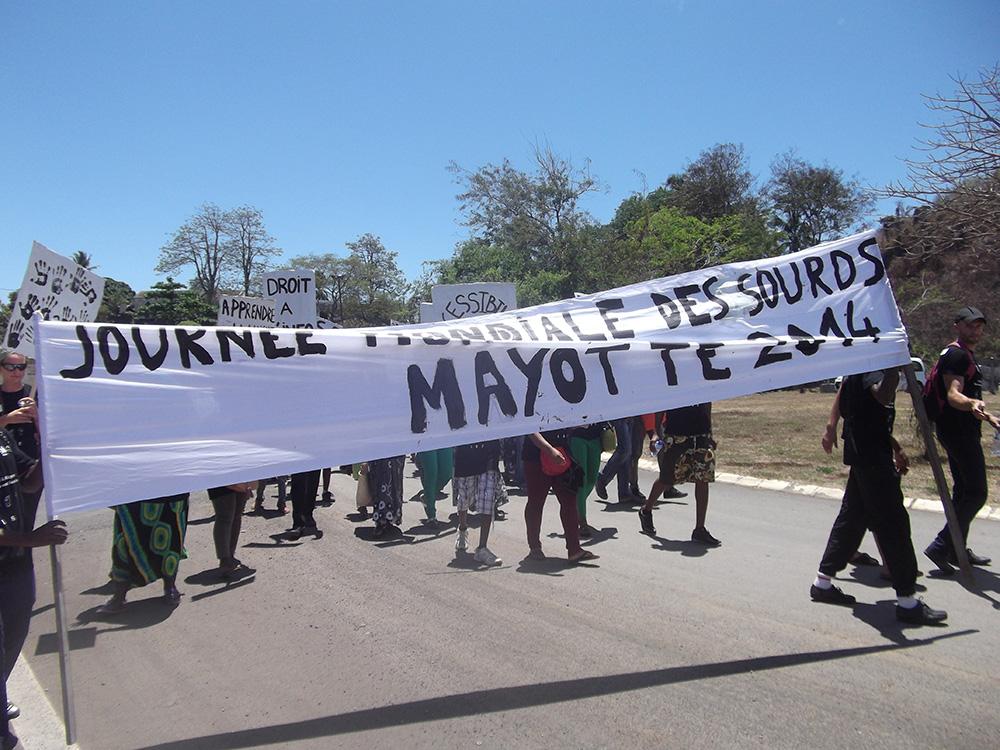 Journée mondiale des sourds Mayotte 2014
